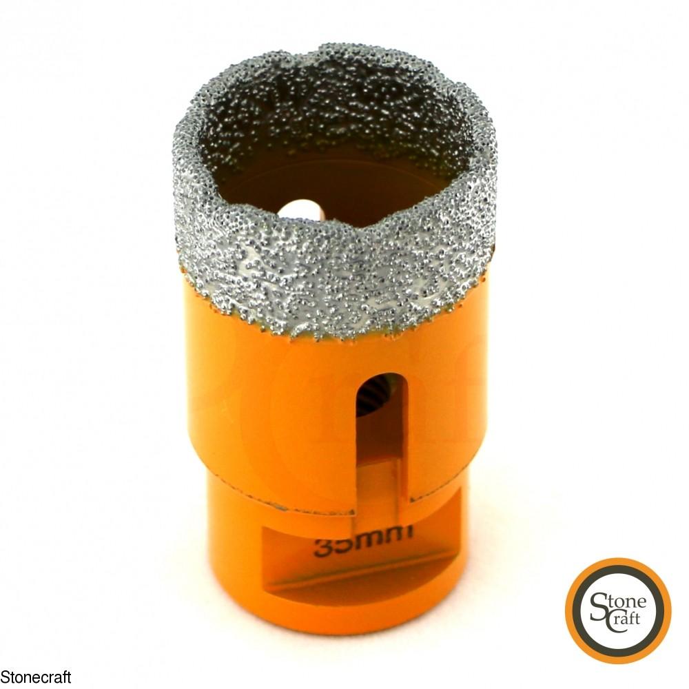 Алмазная коронка d 35 mm х М14 вакуумного спекания. 0