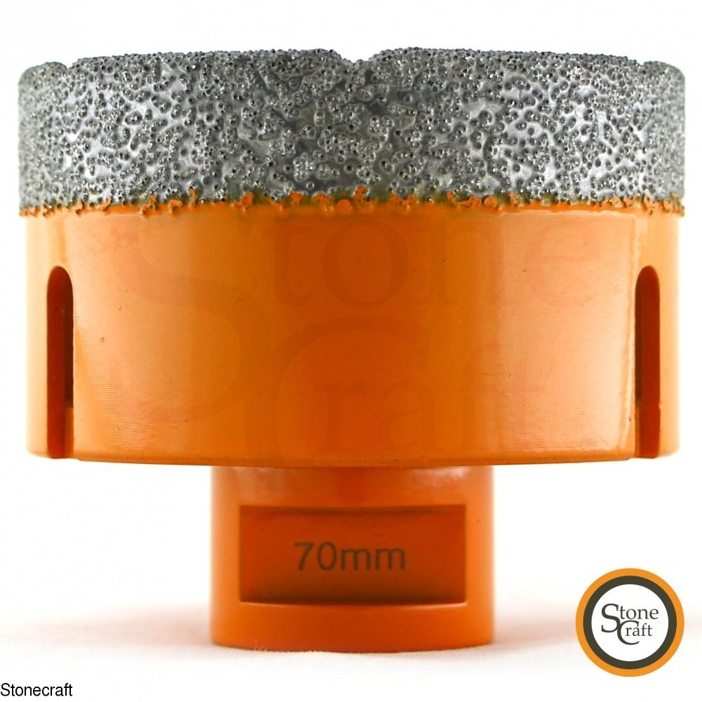 Алмазная коронка d 70 mm х М14 вакуумного спекания. 2