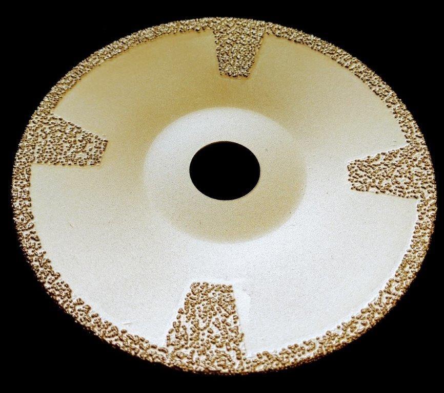 Сферический алмазный вакуумный диск d 125*22.23 для мрамора 1