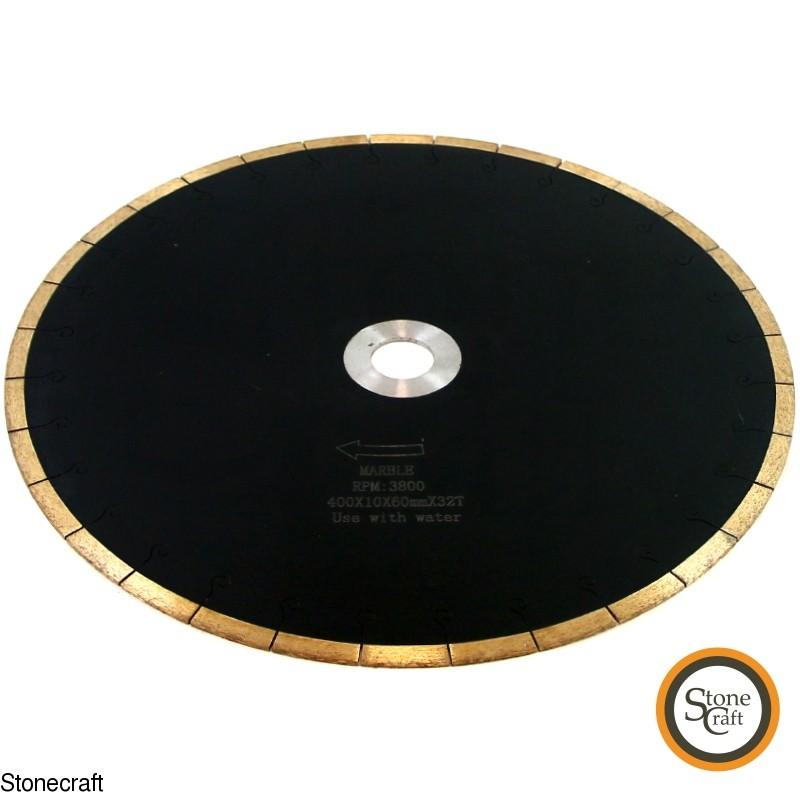 Алмазна пила для мармуру d 400 х 60 мм 2