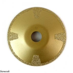 Сферический алмазный вакуумный диск d 125*22.23 для мрамора