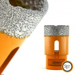Алмазная коронка d 35 mm х М14 вакуумного спекания.